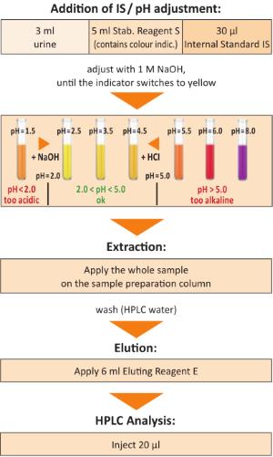 Sample Preparation Catecholamines in Urine